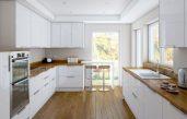 Küche Weiß Mit Holzarbeitsplatte