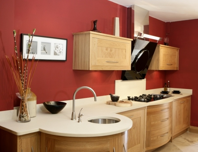 Küchen Wandfarben Beispiele Nett On Andere Für Wandfarbe Küche Ideen Ziegelrot Ahorn Schränke Pinterest 2