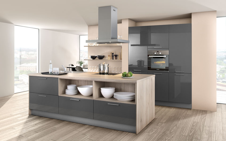Küchenbeispiele Mit Kochinsel Holz Stilvoll On Andere Innerhalb Moderne Design Küche Designer Günstig Kaufen Co 5