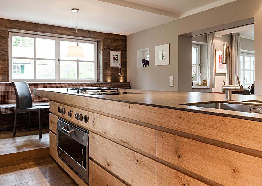 Küchenbeispiele Mit Kochinsel Holz