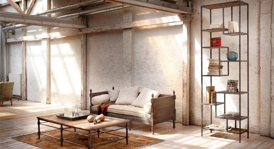 Loft Stil Frisch On Andere In Sofa Douville Couchtisch Sean Und Regal Gravesend Wohnzimmer 8