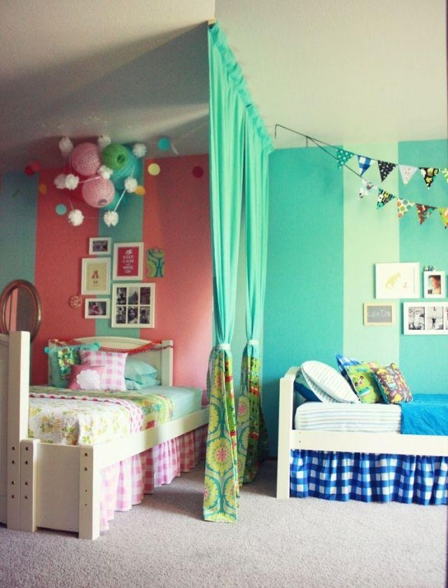 Mädche Und Junges In Ein Zimmer Einrichten Stilvoll On Andere Auf Die Besten 25 Raumteiler Vorhang Ideen Pinterest 1