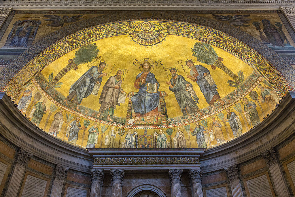Mosaik Flie Charmant On Andere Mit File Apsis Von San Paolo Furi Le Mura Rom Jpg Wikimedia 3