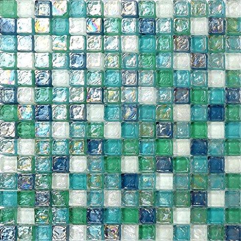 Mosaik Fliesen Erstaunlich On Andere Und Glas Matte In Grün Blau Weiß Mit Violettem 9