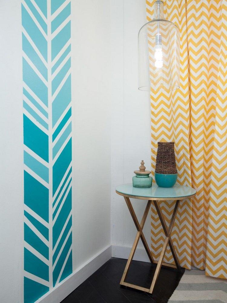 Muster An Der Wand Malen Bescheiden On Andere Innerhalb Mit Farbverlauf Interieur Deco Home 6