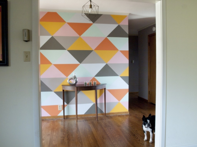 Muster An Der Wand Malen Modern On Andere Für Beliebt Streichen Streifen Innenarchitektur Piscinas 7
