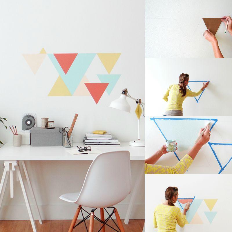 Muster An Der Wand Malen Modern On Andere Innerhalb Wandgestaltung Selber Machen Geometrische Die 3