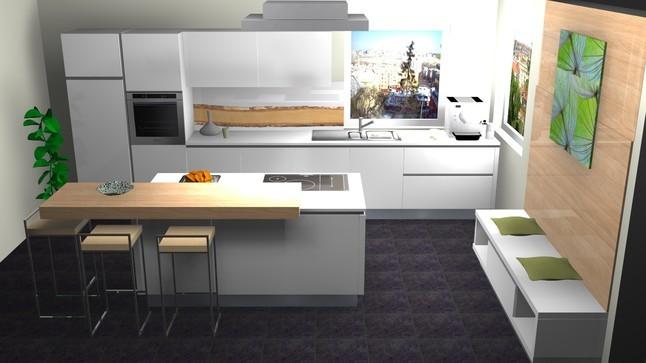 Nolte Küchen Mit Kochinsel Großartig On Andere In Musterküche Mattlack Weiß Tresen Holzdekor 6