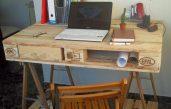 Paletten Schreibtisch
