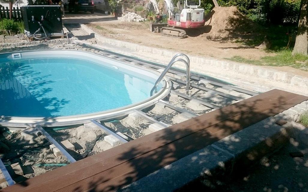 Platten Pool Grau Stilvoll On Andere In Luxus Selber Bauen Fliesen Uncategorized Ehrfrchtiges 6