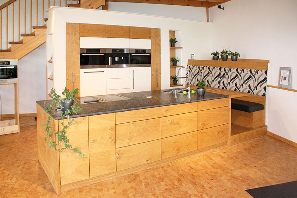 Schreiner Küche Mit Insel Zeitgenössisch On Andere Beabsichtigt Und Sitzgelegenheit In Eiche Schreinerei Sontheimer 2