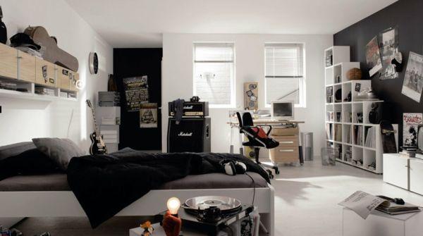 Schwarz Weiß Jugendzimmer Bescheiden On Andere Für Teenager Zimmer Jungen Grau Monochromatische Farben 1