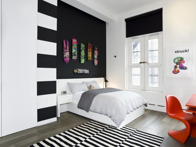Schwarz Weiß Jugendzimmer Einfach On Andere überall Hausumbau Planen 6