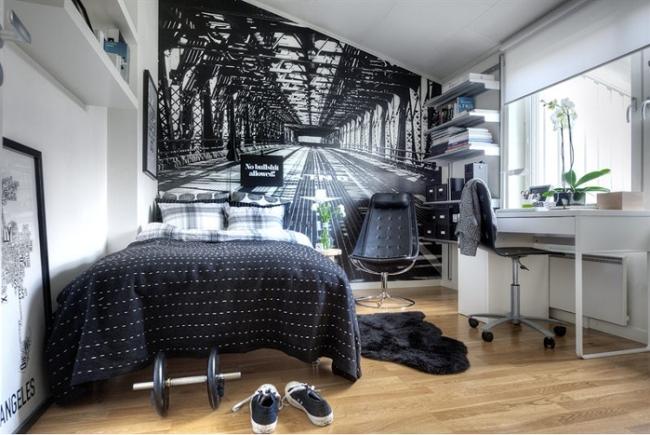 Schwarz Weiß Jugendzimmer Imposing On Andere Mit 107 Ideen Fürs Modern Und Kreativ Einrichten 9