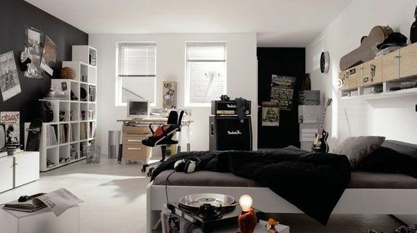 Schwarz Weiß Jugendzimmer Nett On Andere Mit Hausumbau Planen 5