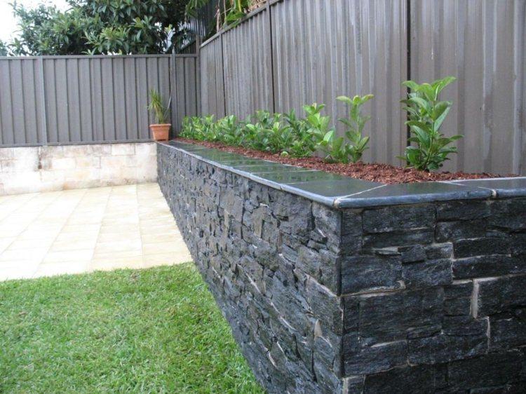 Sichtschutz Auf Stützmauer