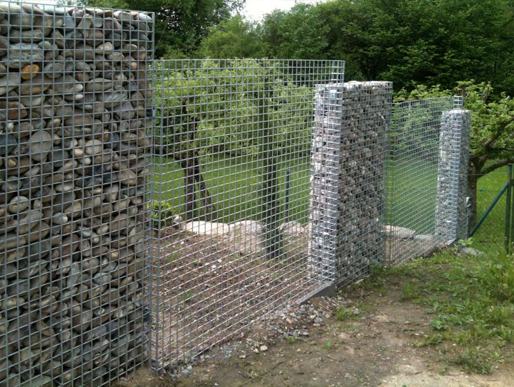 Sichtschutz Auf Stützmauer Stilvoll On Andere Mit Mauer Aus Draht S Gittersysteme 6