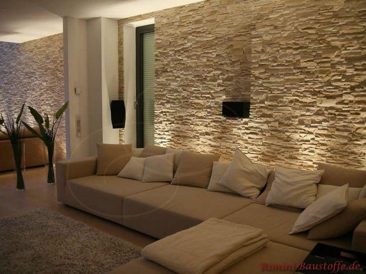 Steinwand Perfekt On Andere In Bezug Auf Amazing Steinwande Wohnzimmer Free Planes Ideen Wall 7