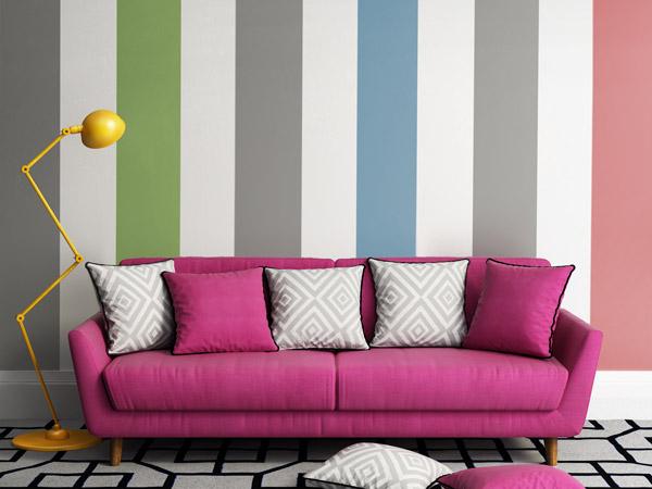 Streifen Design Wand Kreativ On Andere Innerhalb Raum Haus Mit Interessanten Ideen 6