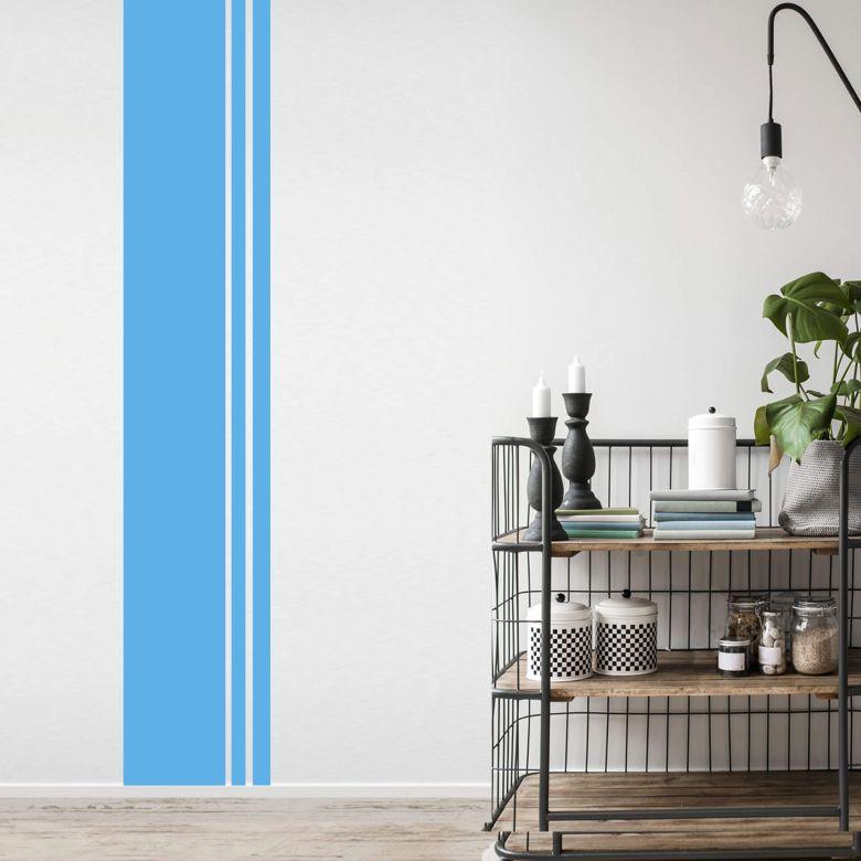 Streifen Design Wand Schön On Andere überall Wandtattoo Retro Dekoration Für Weiße Raufaser Wände 2