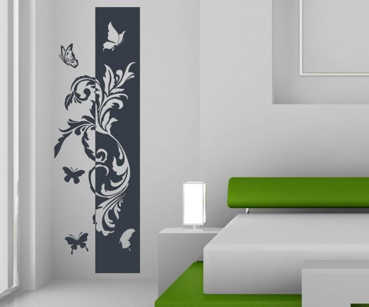 Streifen Design Wand Unglaublich On Andere Auf Wandtattoo Banner Blumenranke Schmetterlinge Deko Blüten 8