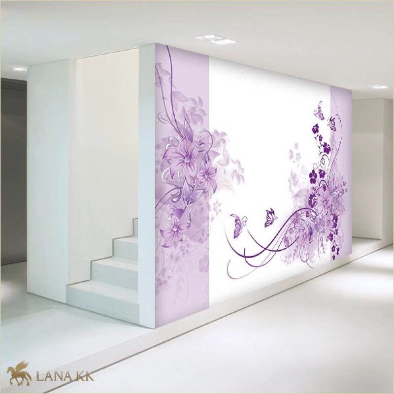 Tapeten Lila Farbe Wandgestaltung
