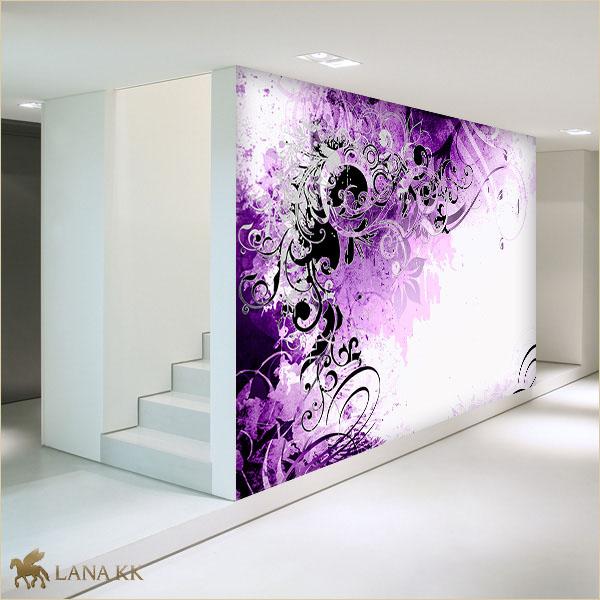 Tapeten Lila Farbe Wandgestaltung Einfach On Andere Und Beeindruckend 1