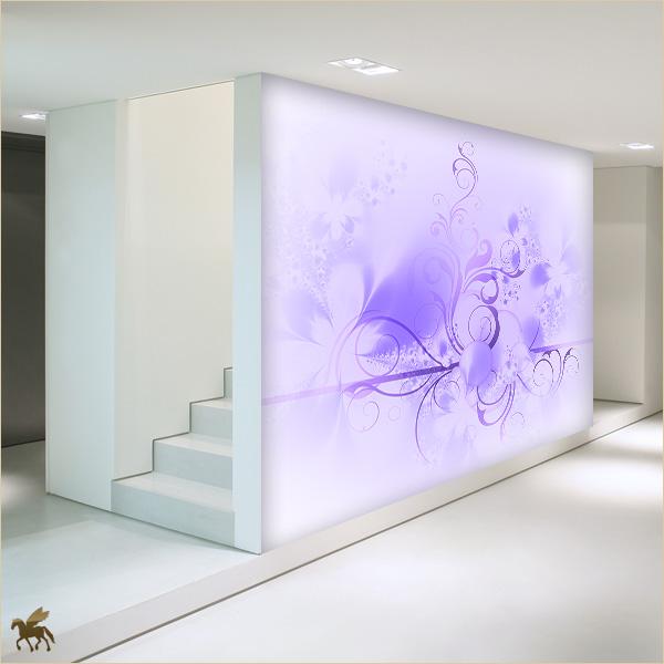 Tapeten Lila Farbe Wandgestaltung Modern On Andere Und Schön Mit 4