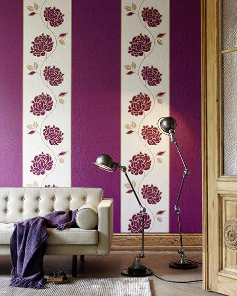 Tapeten Lila Farbe Wandgestaltung Perfekt On Andere In Bezug Auf Einfach überall 8