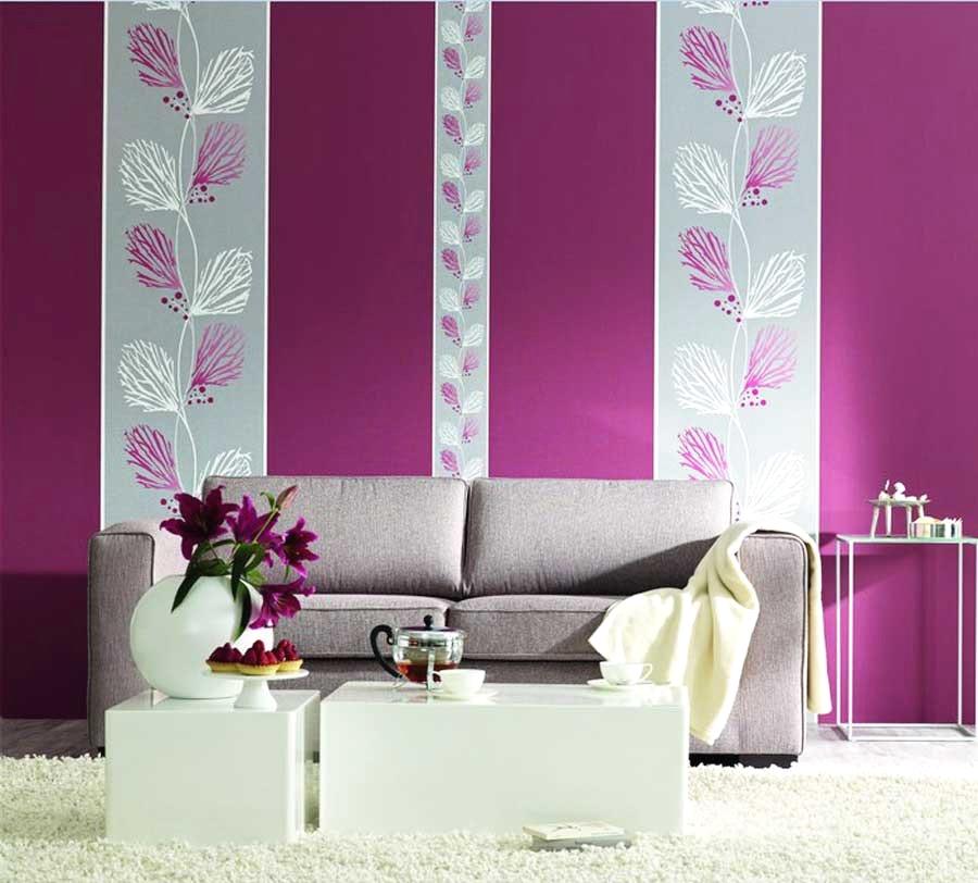 Tapeten Lila Farbe Wandgestaltung Zeitgenössisch On Andere Und Brillante Inspiration 2