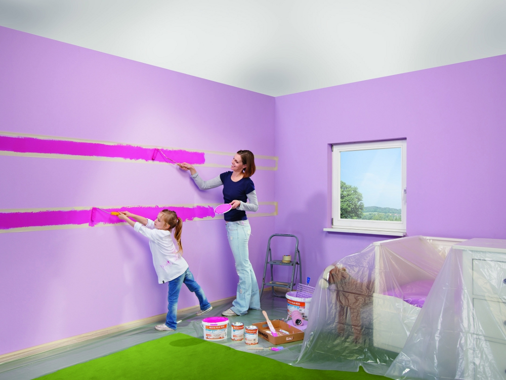 Tapeten Und Farben Kreativ On Andere In Wohnung Renovieren Mit Gesunden 4