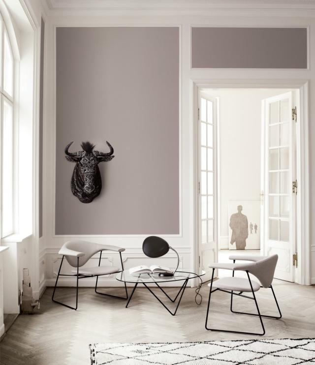 Taupe Wandfarbe Bescheiden On Andere Innerhalb Modernes Wohnzimmer Parkettboden 2