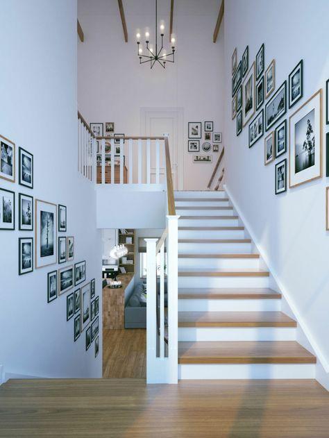 Treppen Wand Gestalten Beeindruckend On Andere Auf Treppe Im Einfamilienhaus Scale Fotowand 9