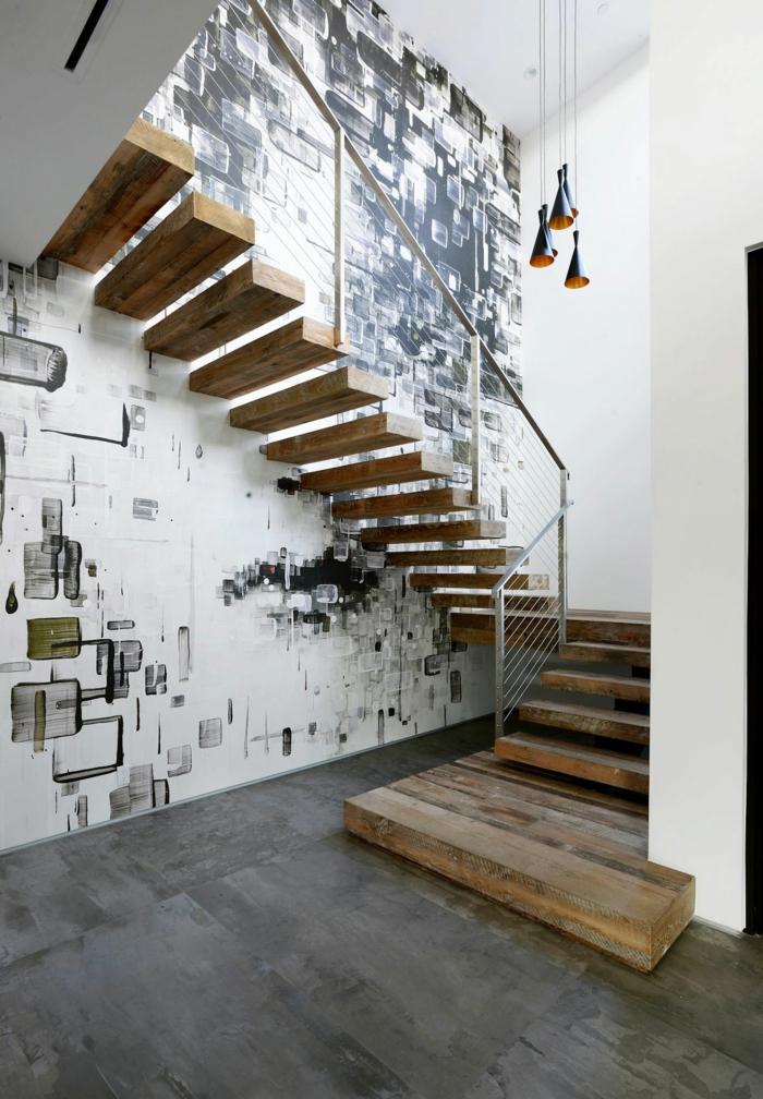 Treppen Wand Gestalten Imposing On Andere In 1001 Beispiele Für Treppenhaus 80 Ideen Als 5