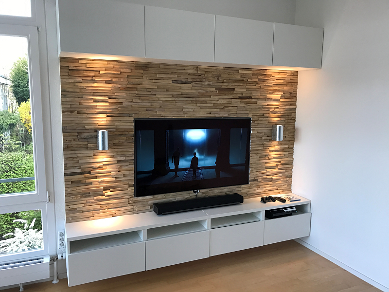 Tv Wandverkleidung Wunderbar On Andere Beabsichtigt Bemerkenswert Für Holz Wand TV 3
