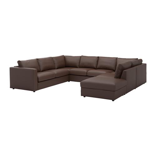 U Sofa Einfach On Andere Beabsichtigt VIMLE Shaped 6 Seat With Open End Farsta Dark Brown IKEA 9