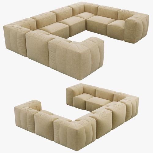 U Sofa Frisch On Andere In Restoration Hardware Preconfigured Fulham Upholstered 3D 6