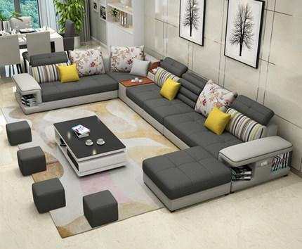 U Sofa Modern On Andere In Bezug Auf The Large Sized Apartment Simple Type Factory 5