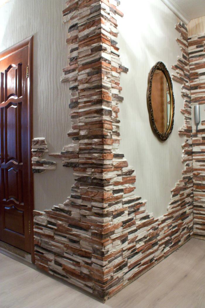 Wand Gestalten Mit Steinen Charmant Andere In Innen Und
