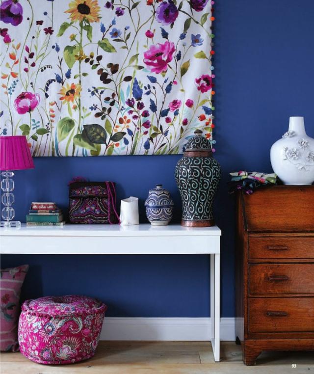 Wand Gestalten Mit Stoff Bemerkenswert On Andere Und Bespannen Deko Textilien Verschönert Das 8