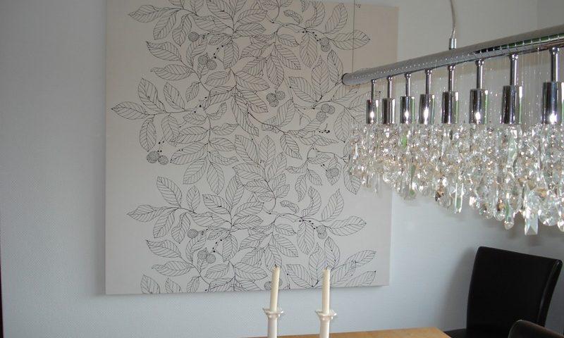 Wand Gestalten Mit Stoff Unglaublich On Andere Für Bilder Selbst Planungswelten 5