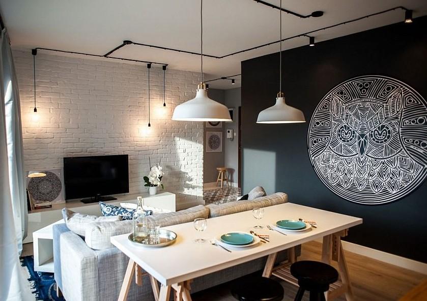 Wände Esszimmer Ausgezeichnet On Andere Mit Schwarze Für Moderne Farbgestaltung Kleiner Wohn 9