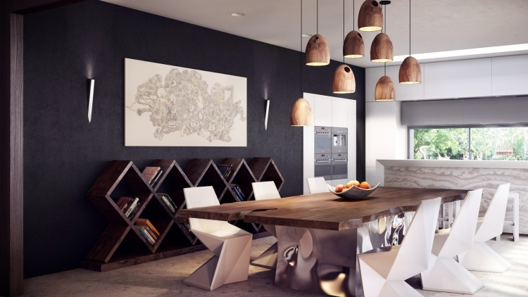 Wände Esszimmer Fein On Andere Innerhalb Wandgestaltung Im 25 Originelle Designs Ideen 1