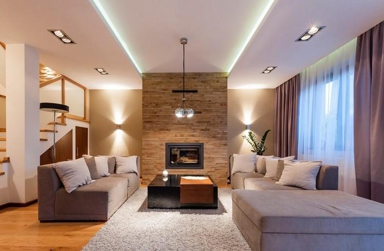 Wände Gestalten Einfach On Andere Beabsichtigt 30 Wohnzimmerwände Ideen Streichen Und Modern 4