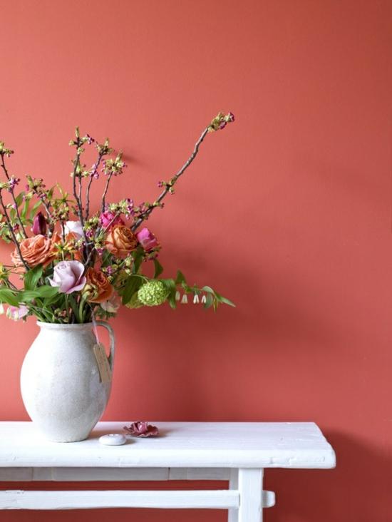 Wandfarbe Korall Großartig On Andere Mit Ostern Frühling Farbe Wandgestaltung Blumen 4