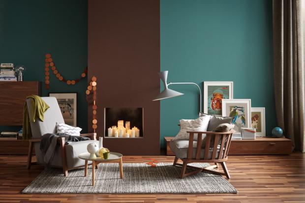 Wandfarbe Petrol Wirkung Beeindruckend On Andere In Bezug Auf Die Wandfarben Und Braun Einem Raum Bild 6 SCHÖNER 2