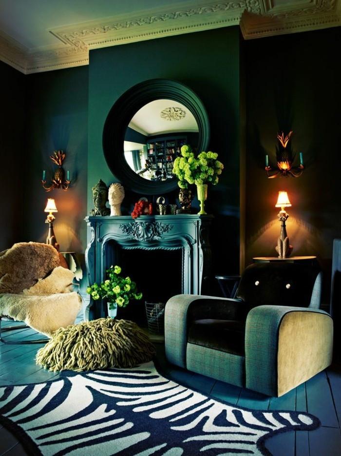 Wandfarbe Petrol Wirkung Einfach On Andere Auf 15 Hm Kerzenleuchter 1