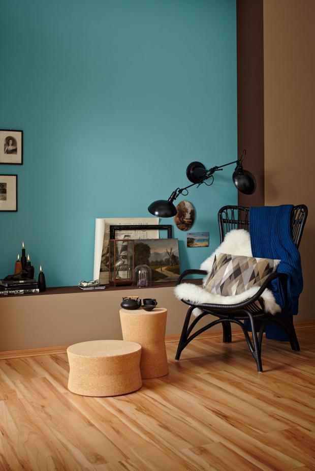 Wandfarbe Petrol Wirkung Zeitgenössisch On Andere Auf Helle Natürliche Farben Und Wirken Wohnlich Bild 4 6