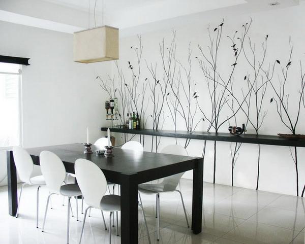 Wandgestaltung Im Esszimmer Nett On Andere überall Design 4