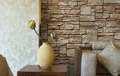 Wandgestaltung Stein